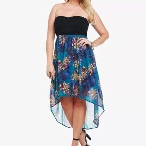 Torrid Plus Size Hi-Low Floral Dress Size 20